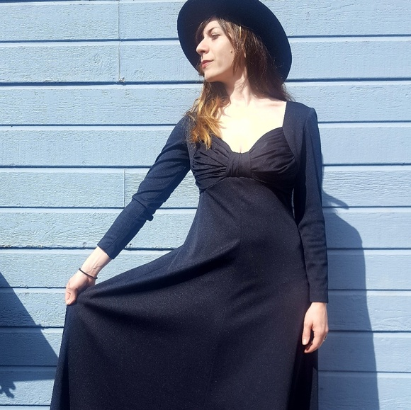 95d0076a1541 Vintage Dresses | 1970s Long Black Formal Dress | Poshmark